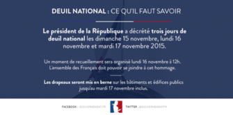 Deuil National - Information au public